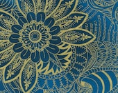 Legacy by Timeless Treasures CM9542  Large Floral Navy