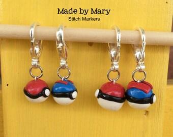 Gamer Ball Stitch Marker - Set of 4