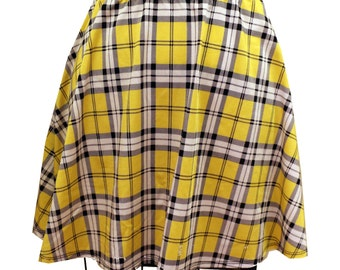 Clueless Yellow Skater Skirt