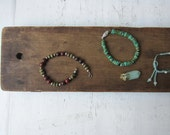 SALE Rustic Jewelry Display Board -  Flat Ring / Bracelet / Necklace Display - Reclaimed Antique Wood