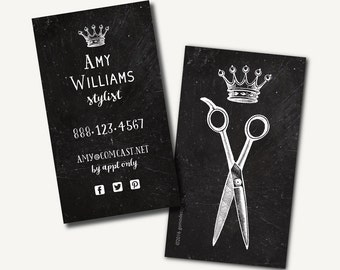 Hair stylist business cards | Etsy