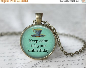 Mad Hatter Necklace, Alice in Wonderland Necklace, Unbirthday Necklace, Book Necklace, Literary Necklace, Once Upon a Time Necklace 115