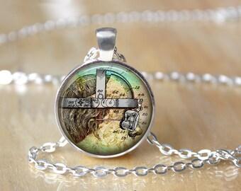 Vintage Anatomy Necklace - Neuroscience - Geek Chic Jewelry - Science Pendant - Anatomy Jewelry - Science Necklace - Nurse Gift 188
