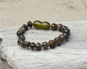 Amber Teething Anklet - Bracelet for Baby - Safety Knotted