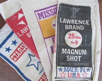 ONE Canvas Shot Bag Vintage Lead Shot