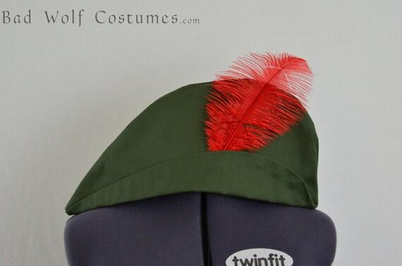 Robin Hood, Peter Pan Hat - customizable - Renaissance, medieval, fantasy, costume, cosplay, LARP - color options!