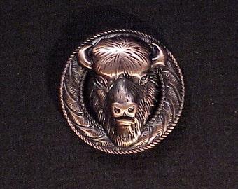 Buffalo Head concho