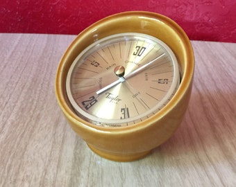 Vintage Taylor Weather Gauge with Mod Pottery Casing