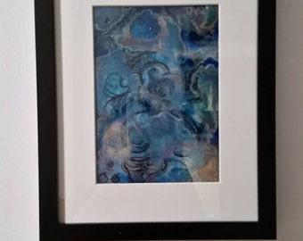 Ocean- resin abstract art