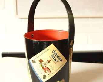1950's German Ice bucket Lacquered and Decoupaged