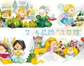 1 Roll Limited Edition Washi Tape- Princess Snow Ball's Fighting