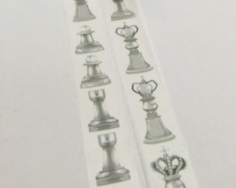 1 Roll Limited Edition Washi Tape : Chess Set