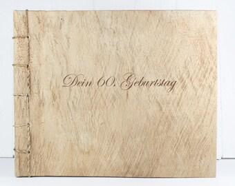 Engraved wood photo album text / name