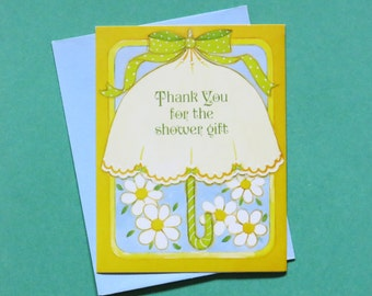 Vintage Drawing Board THANK You for the SHOWER Gift Cards - Set of 8 - NOS - 1970s
