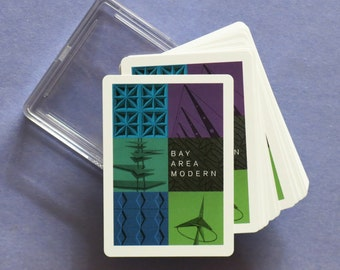 San Francisco BAY AREA MODERN Playing Cards - 52 Unique Architecture Cards with Jokers - Great Stocking Stuffer!