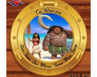 Disney Moana Cruise Magnet, Custom Personalized Cabin Door Magnet, Stateroom Door Magnet, Disney Family Name Magnet, Custom Disney Sign