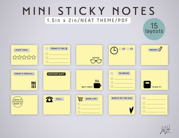 Gutsy image pertaining to printable sticky notes