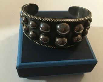 Vintage sterling Mexican Mexico te 15 925 cuff bracelet