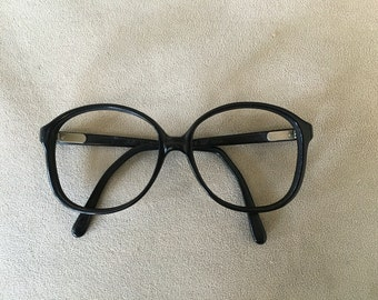 Liberty black nerdy eyeglasses frames vintage 1980's made in USA