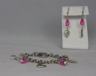 Firefly Bracelet & Earring Set (Silver)