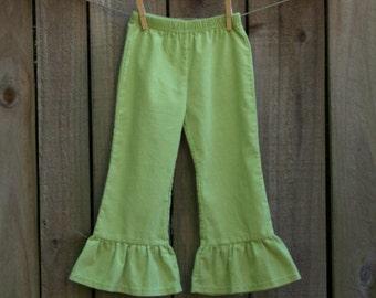 Girl's Corduroy Ruffle Pants