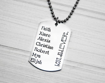 Best Dad Ever - Hand Stamped Stainless Steel Dog Tag Necklace - Personalized Necklace - Father's Day - Gift for Dad