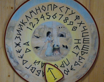 "Ouija board - Spirit board - Talking board ""Magic Circle"" / Any Alphabet & Free Shipping"
