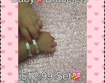 Baby Bangles*Toddler Bangles*Silver Color Bangles*Silver Bracelets*Pair Bangles*