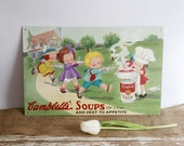 Vintage 1993 Campbells Soup Advertising Tin Sign, #3 in the Series, Limited Edition Campbells Soup Nostalgic Sign, Country Farmhouse Kitchen