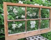 31 x 18 Vintage Window sash frame old  6 pane from 1973
