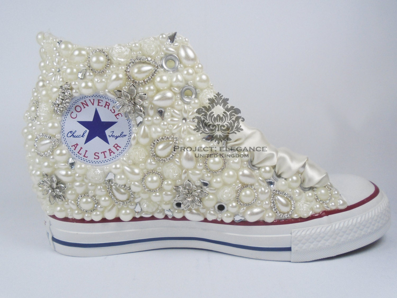 Lace converse Wedding Converse bling converse custom