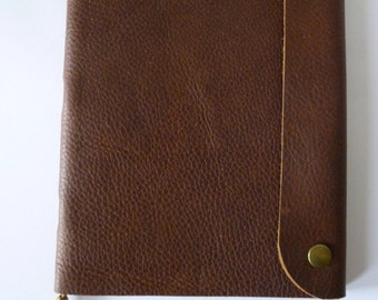 Recycled leather sketchbook