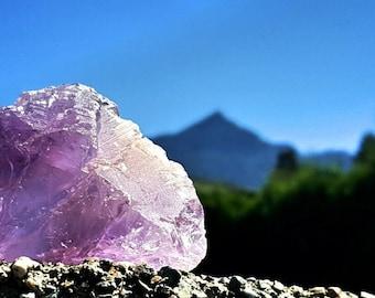 Raw Ametrine Chunk / Rare Healing Crystal / Amethyst Citrine mixture