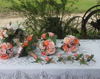Custom made Real Touch/ Silk Mixed WEdding Flower Package