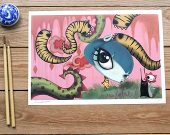 ART PRINTS//pop surrealism// illustration