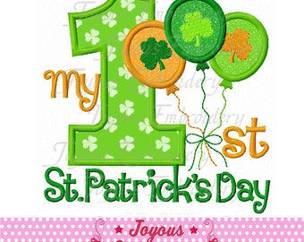 Instant Download My 1st St.Patrick's Day Applique Machine Embroidery Design NO:1970