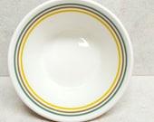 Syracuse Syralite Bowls Ivory Banded Restaurant Ware Soup American Shape Fruit Set of 4