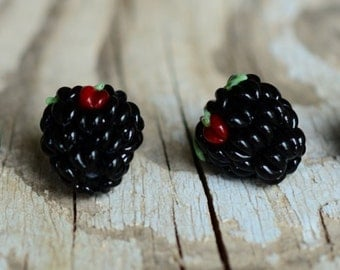 Lampwork Beads, MADE TO ORDER Berry Glass Bead (1), Lampwork Berry beads, Lampwork Blackberry, Glass Black, Wildberry, Beads for Jewelry sra