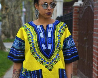 Unisex Dashiki Yellow African Shirt