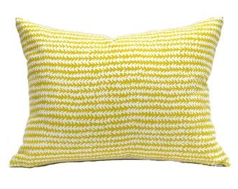 Indoor Outdoor Lumbar Pillow Cover Decorative Pillow Cover Yellow Pillow P Kaufmann Outdoor Doodle Lime
