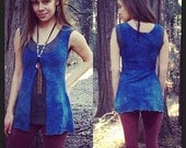 Custom Made to Order Sutra Split tank top Organic Hemp and Cotton Dyed with Herbs