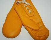Vintage Grandoe Winter Mittens Bright Yellow - 100% Acrylic Lining - One Size