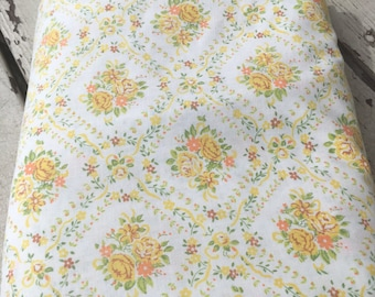 Vintage Full Flat with yellow and orange roses.