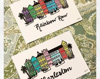 Charleston Rainbow Row Houses - Color 5x7 Print