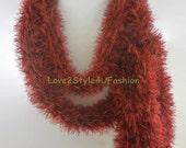 Scarlet Red Scarf, Skinny Scarf, Christmas Gift, Boho Scarf, Festival Fashion, Scarf for Women, Bohemian Scarf, Womens Scarf, Tribal Scarf