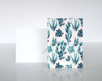 """1 """"Cactées"""" card - 1 carte """"Cactées"""""""