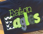 School spirit shirts adult sizes! School spirit, applique letters, embroidered, high school shirt, school shirt