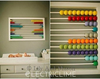 Baby Nursery/ Kids Wall Art Abacus