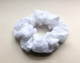 White Lace Scrunchie