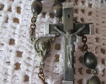 Vintage Rosary wooden 1960 / Vintage wood Rosary in 1960